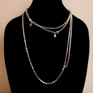 🍒 Aldo gold tone long necklace
